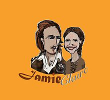 Jamie and Claire couple sketch Womens Fitted T-Shirt