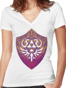 Hylian Victoriana Women's Fitted V-Neck T-Shirt
