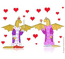 Dragon King and Queen of Hearts Photographic Print