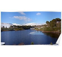 Snowy Reservoir - Brecon Beacons Poster