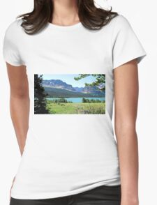 Lake Sherbourne, Glacier National Park Womens Fitted T-Shirt