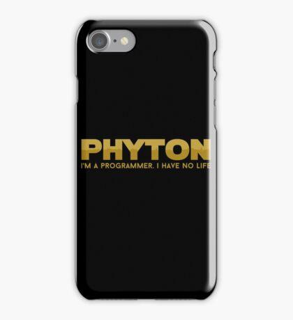 Programmer T-shirt : Phyton iPhone Case/Skin