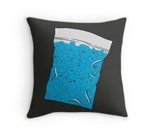 Blue Meth Throw Pillow