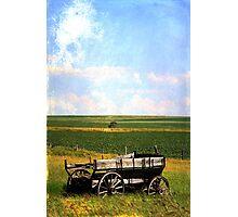 Rustic Wagon Photographic Print