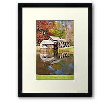 Grist Mill & Reflection Framed Print