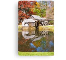 Grist Mill & Reflection Canvas Print