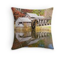 Grist Mill & Reflection Throw Pillow