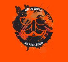 hacker - anonymous - hello world Kids Tee
