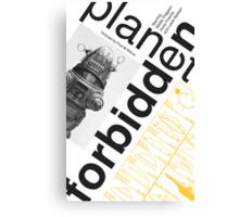 Forbidden Planet Poster conceptual  Canvas Print