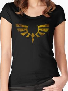 Hylian Crest Grunge Women's Fitted Scoop T-Shirt