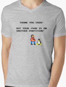linux tux mario like troll Mens V-Neck T-Shirt