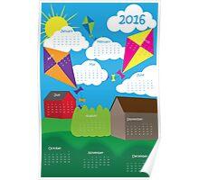 2016 Whimsical Calendar Poster