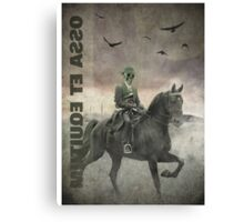 The Skeleton and The Horse Canvas Print