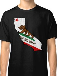 California State Bear Flag (vintage distressed design) Classic T-Shirt