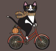 Cat on a Bicycle  Baby Tee