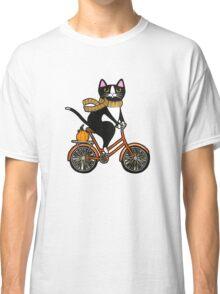 Cat on a Bicycle  Classic T-Shirt