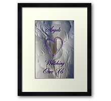 Angels watching over us Framed Print