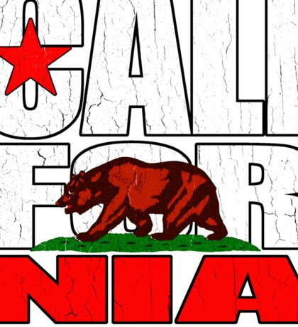 California Republic (vintage distressed look) Sticker