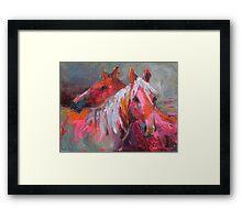 Contemporary Horses Svetlana Novikova Painting Framed Print