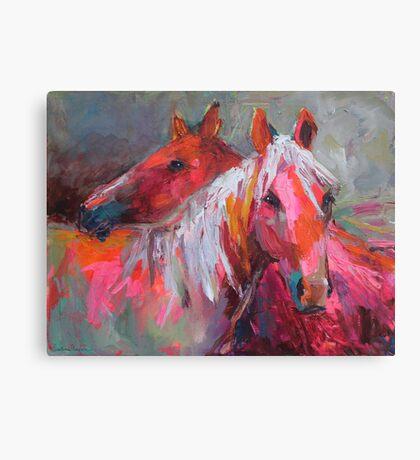 Contemporary Horses Svetlana Novikova Painting Canvas Print