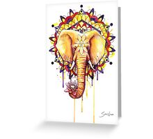 Elephant Mandala Greeting Card