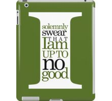 Marauders quote iPad Case/Skin