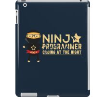 Programmer T-shirt : Ninja programmer. coding at the night iPad Case/Skin