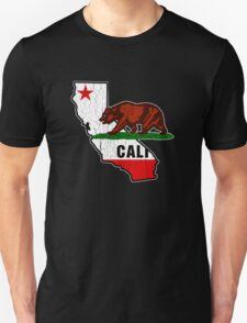 California Bear Flag (Distressed Vintage Design) T-Shirt