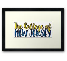 The College of New Jersey Two Tone Framed Print
