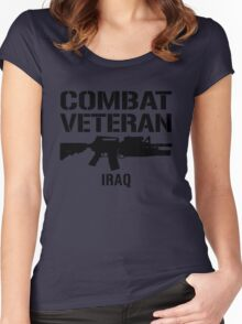 Combat Veteran - Iraq  Women's Fitted Scoop T-Shirt