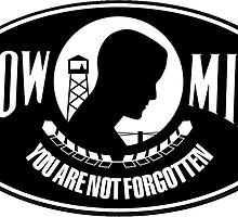 POW MIA Oval Sticker by robotface