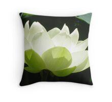 White flowering Lotus Throw Pillow