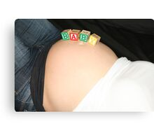 BABY BELLY  Canvas Print