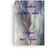 Feathers Appear when Angels are near Canvas Print