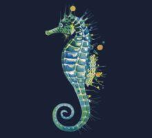 Seahorse - Green One Piece - Short Sleeve