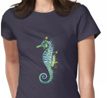 Seahorse - Green Womens Fitted T-Shirt