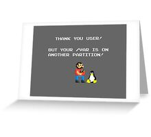 linux tux mario like troll Greeting Card
