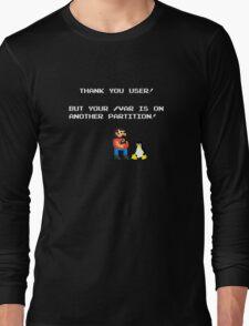 linux tux mario like troll Long Sleeve T-Shirt