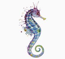 Seahorse - Purple Kids Tee
