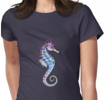 Seahorse - Purple Womens Fitted T-Shirt