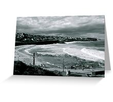 Bronte Beach Black and White Greeting Card
