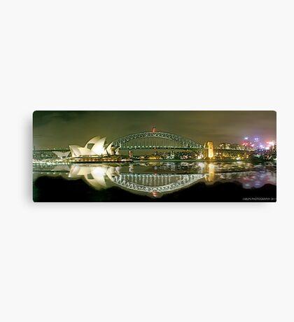Sydney Harbour Bridge reflection Canvas Print