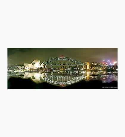 Sydney Harbour Bridge reflection Photographic Print