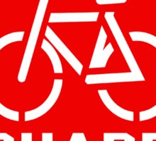 Share the Road Sticker - Red Version Sticker