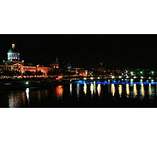 Old Montreal at night Photographic Print