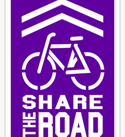 Share the Road Sticker - Purple Version Sticker