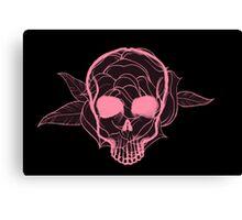 Skull Flower Canvas Print
