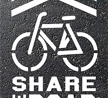 Share the Road Sticker - Blacktop Version by robotface