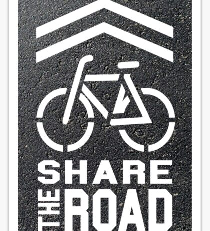 Share the Road Sticker - Blacktop Version Sticker