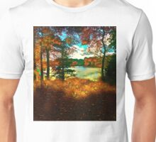 Trees and Shadows in New England Unisex T-Shirt